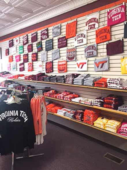 Hokie retail display