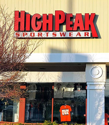 Storefront with High Peak sign