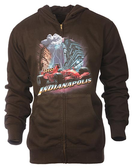 Graphic hooded sweatshirt of the Indianapolis 500 race