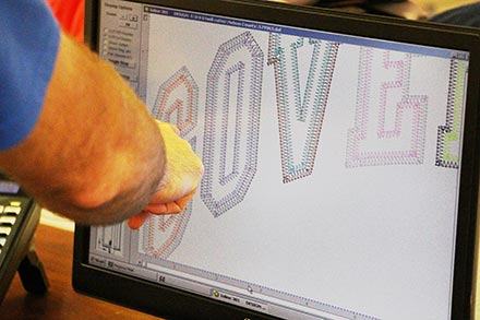 Company logo being digitized