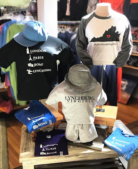 Lynchburg Virginia tourism shirts for sale